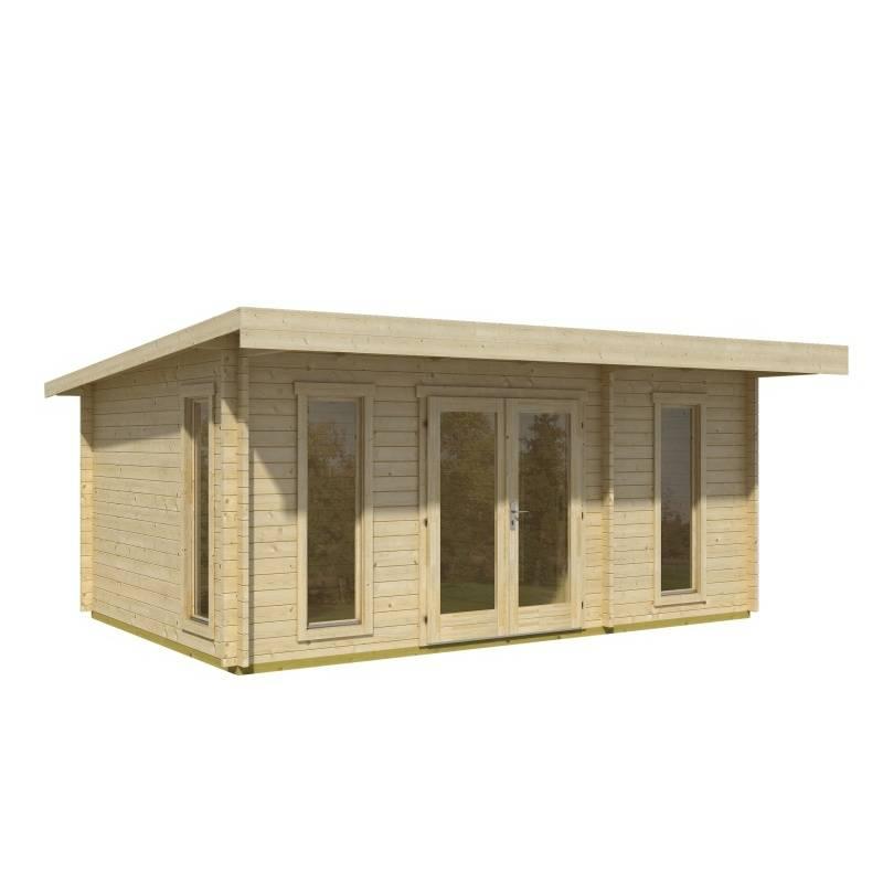 chatka s rovnou strechou