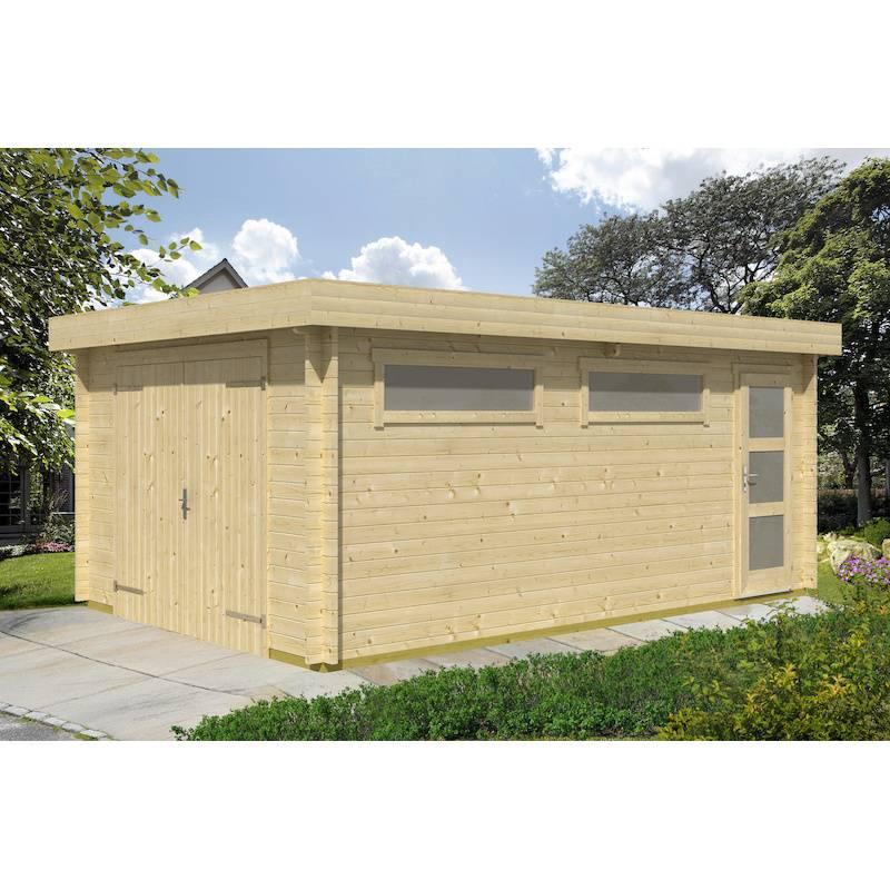 drevená garáž