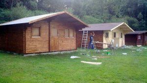 realizácia záhradnej chatky