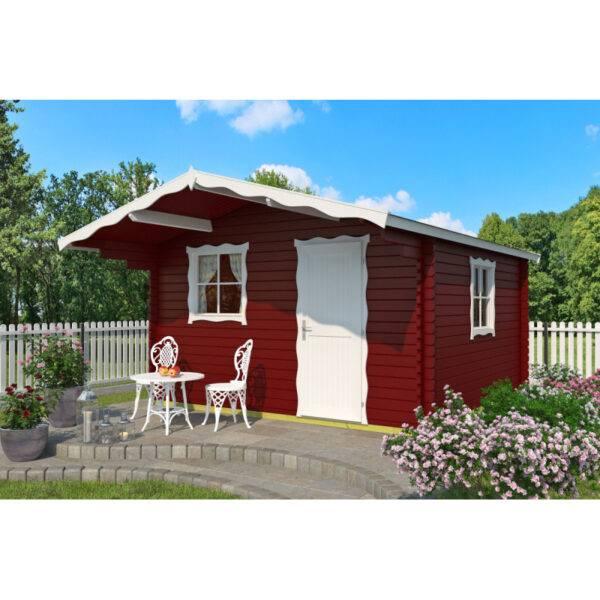 Záhradný domček s terasou Cortina červená